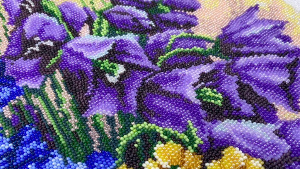 Цветы вышивкой крестиком