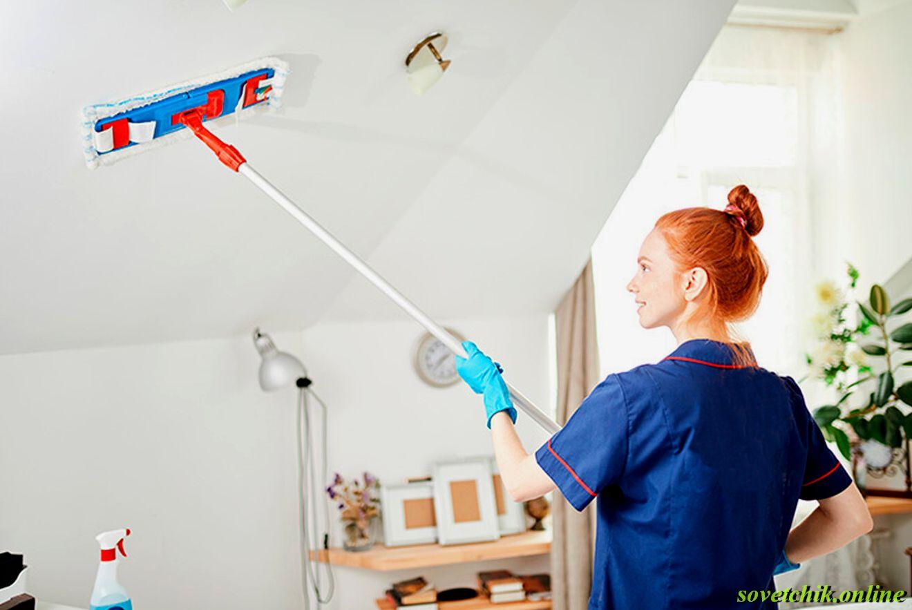 Чем помыть пластиковые потолки на кухне без разводов
