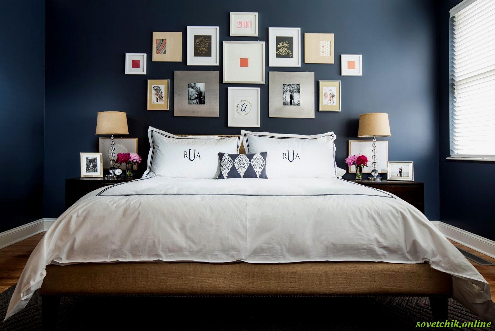 Что можно повесить над кроватью в спальне 1